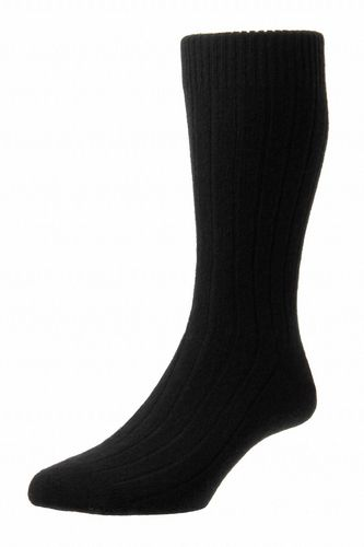 Mens Cashmere Socks - Black